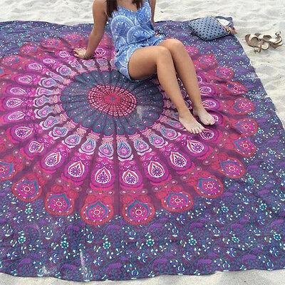 Indian Mandala Tapestry Wall Hanging Throw Towel Beach Yoga Mat Table Decor Boho