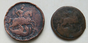 Russland-Russia-Elisabeth-I-Kopeke-1757-Denga-17-60