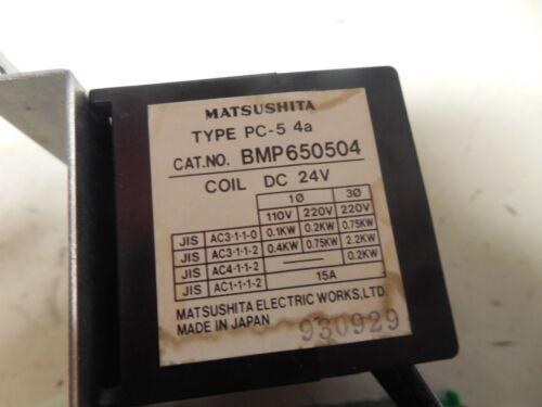 MATSUSHITA STARTER BMP650504 TYPE PC-5 4a 24V COIL w// BMK9-01 0.6-1A AMP