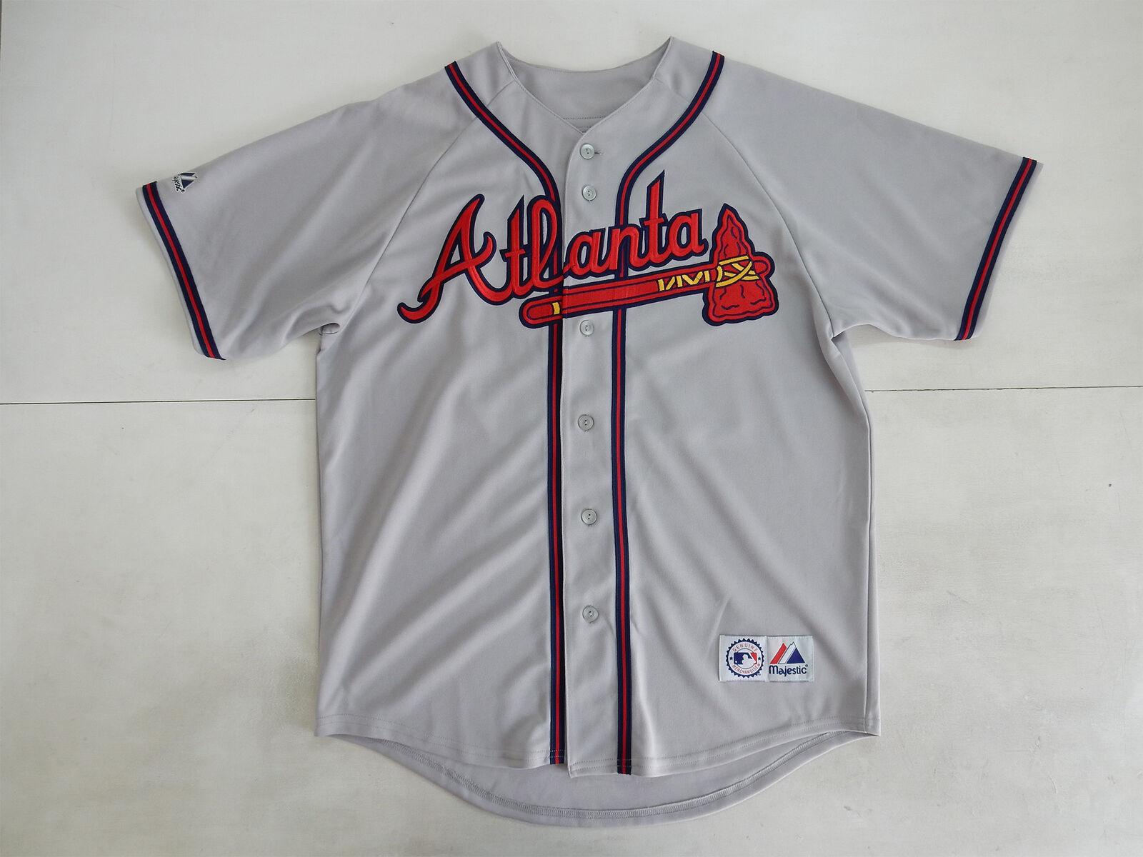 ATLANTA BRAVES JONES MAJESTIC MAJESTIC MAJESTIC MAGLIA SHIRT JERSEY MLB BASEBALL e3e955