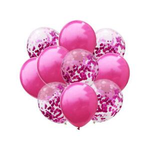 Konfetti-Luftballon-Set-fuer-Hochzeit-JGA-Geburtstag-Baby-Party-Deko-Ballons-Pink