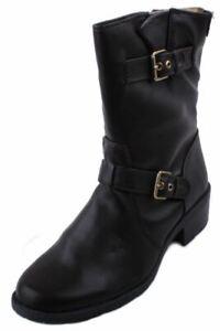 Anne-Klein-Laski-Womens-Dark-Brown-Mid-Calf-Fashion-Boots-size-9-5