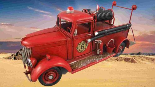 Feuerwehrwagen Antik Eisen L.30x14x12cm limitiert Vintage Sammler Geschenk