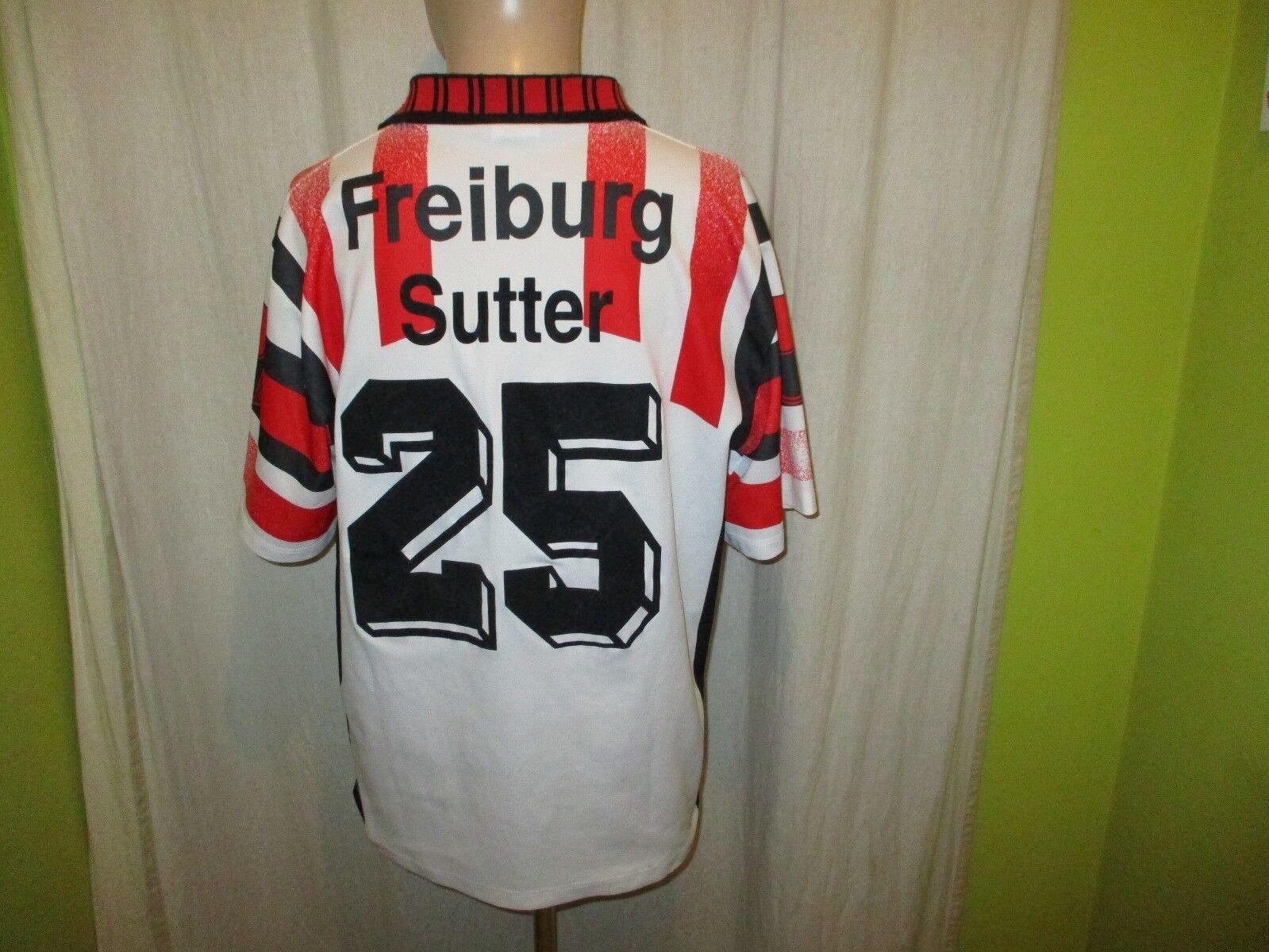SC Freiburg uhlsport Matchworn Trikot 1995 96  zehnder  + Nr.25 Sutter Gr.XL  | Die Königin Der Qualität