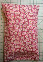 White Daisies Daisy Flowers On Pink Small Pillow Case & 1 White Travel Pillow