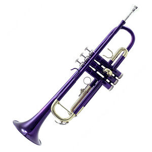 *great Gift* Top Quality Bb Purple Lacque Trumpet W Hard Case Care Kit Clearance G3mkesly-07184513-240028780