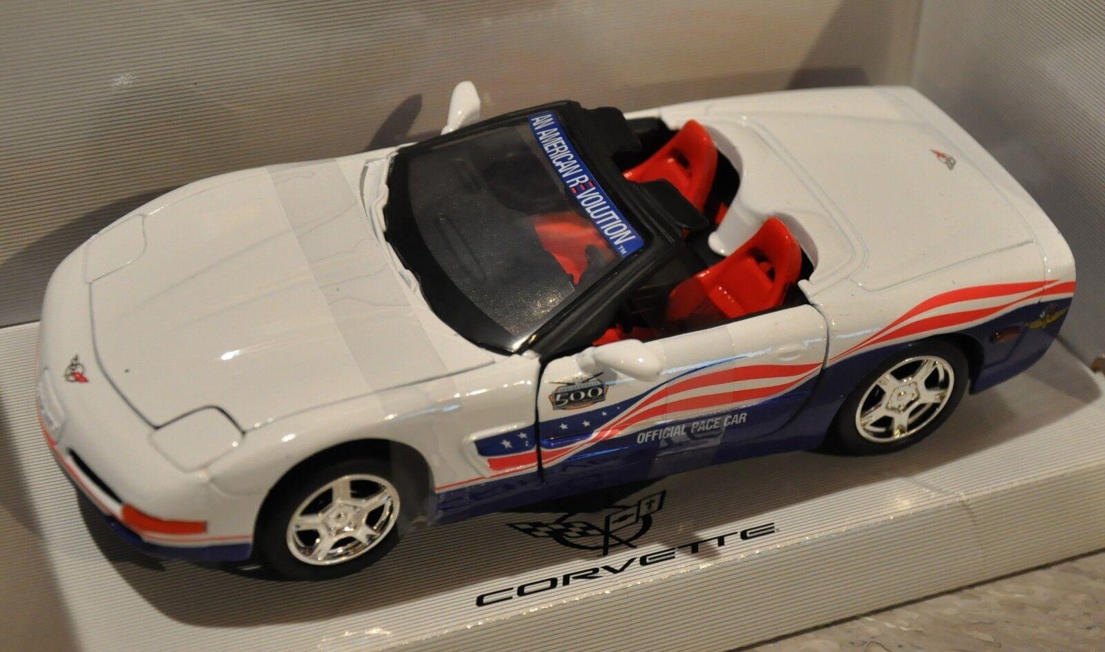 grönljus samlaibles 2004 Corvette Indy 500 Pace bil - 1 24 - röd  vit  blå