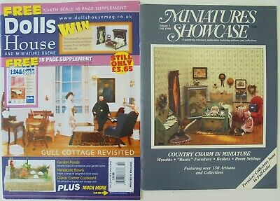 4 Miniature   Vintage  /'1930/'s/'  Magazines  Dollhouse  1:12  Scale OPENING PAGES