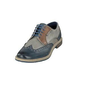 Details zu bugatti ADAMO 312 25904 1111 Herren Schuhe Business Schuhe 4115 d blue grey