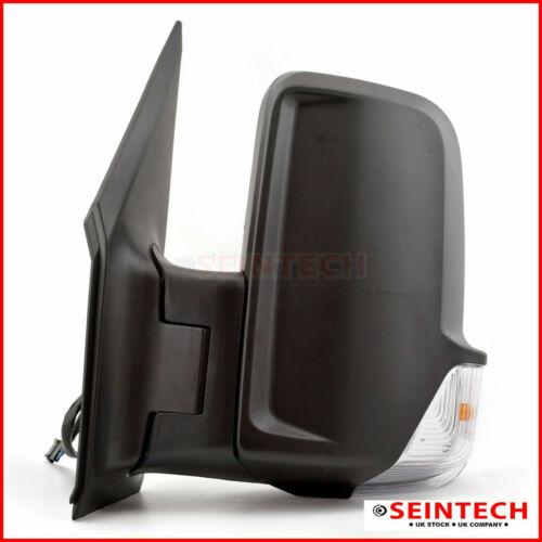 Merc Sprinter Full Door Wing Mirror Electric Black Short Arm NS Left 2006/>18