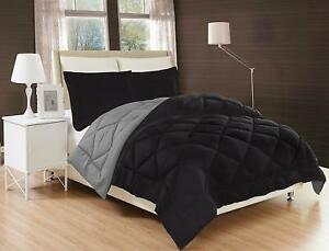 3-Piece-Reversible-Down-Alternative-Comforter-Set-and-Shams-Black-Gray-Color