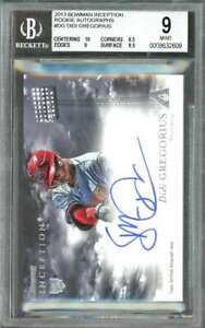 2013 bowman inception #DG DIDI GREGORIUS rc auto BGS 9 (10 8.5 9 9.5)