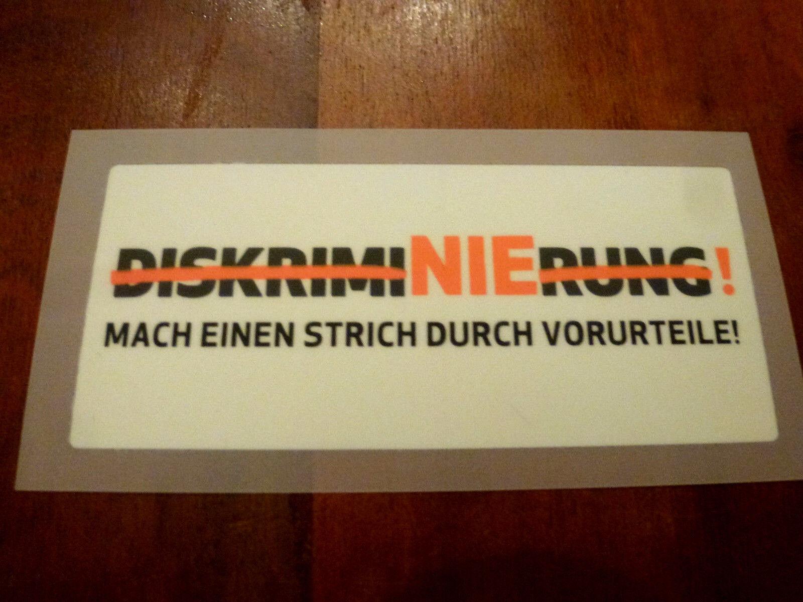 DISKRIMINIERUNG Patch Bundesliga Integrationsspieltag Badge wie beim Matchworn