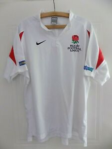 Nike-England-Rugby-Union-Original-Shirt-Top-Jersey-Mens-Large-White-Training-L