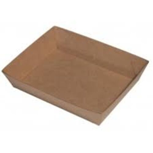 50 Cardboard Tray , 170x130x45mm, Brown enviroboard open tray