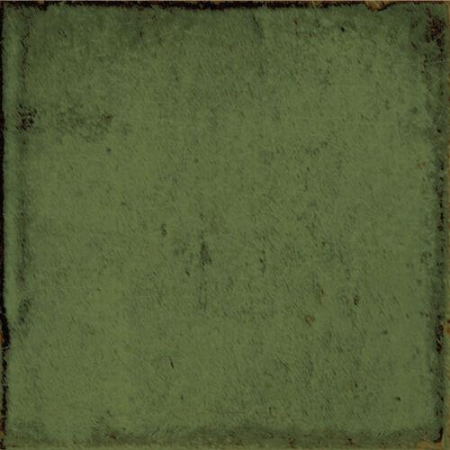 Karton á 0,5m² Wandfliesen Glam Olivgrün glänzend 15x15cm Dekorfliesen
