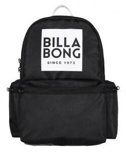 NEW + TAG BILLABONG 'STATEMENT' BACKPACK SCHOOL GYM BAG 22L BLACK WOMENS GIRLS