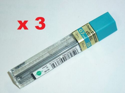 3x Pentel spare lead 0.7mm HB refill leads 4 mechanical pencils replacement lead