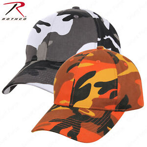 ff335d35 Rothco Supreme Camo Mid-Low Profile Cap Savage Orange or City Camo ...