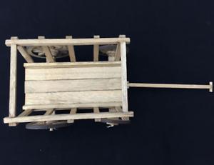1 6 Scale Accessories World War II Scene Wooden Handcart With Four Wheels Barrow