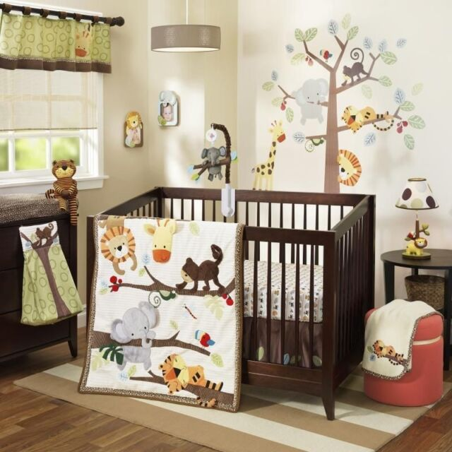 Lambs & Ivy Treetop Buddies 5 Pc Baby Nursery Crib Bedding Set with Bumper NEW