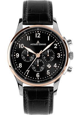 Jacques Lemans 1 1656c London Classic Chronograph Analogue Mens Watch Brand New