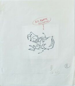 Ren & Stimpy Original 1990's Production Cel Drawing Pillow