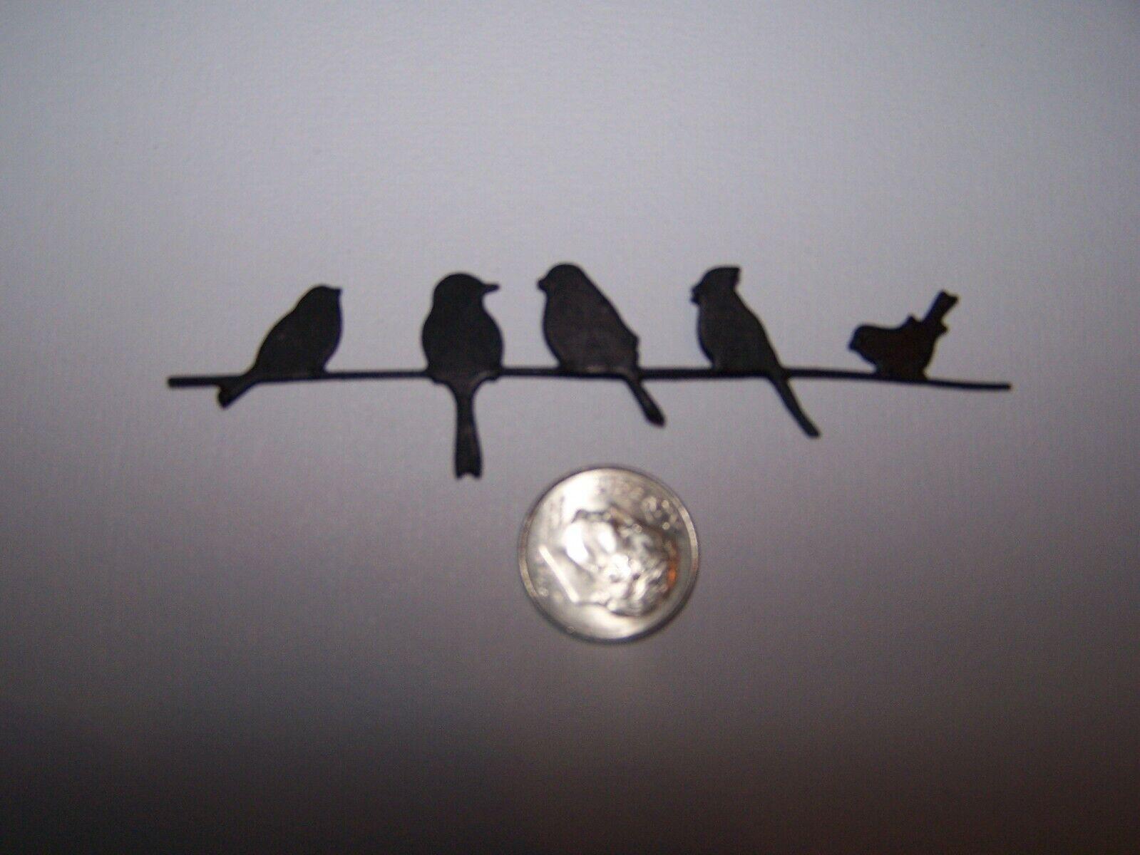 Scrapbook /& Card Making 10 Black Crows Premade PAPER Die Cuts