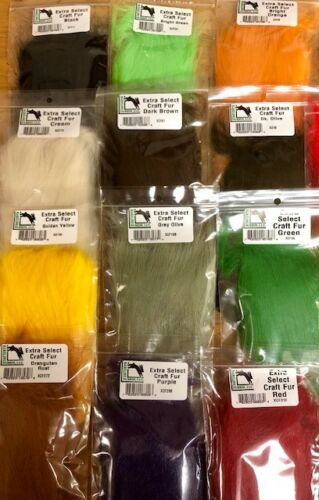 fly tying cheveux Streamer Saltwater Toutes les couleurs Hareline Extra Select Craft fourrure