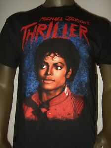 Men-039-s-M-XL-Black-Michael-Jackson-Thriller-MTV-Zombie-Music-Video-POP-Music-Shirt