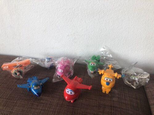 Super Wings Flieger Figuren Spielzeug Flugzeuge 8 Stk Jett,Donnie,Jerome NEU