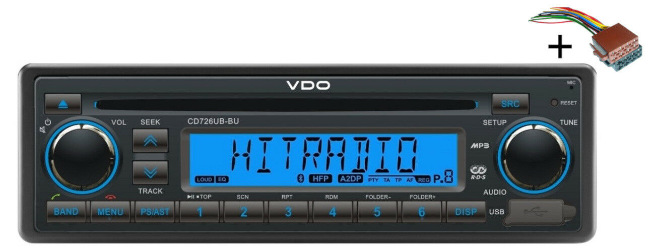 VDO CD Radio USB MP3 WMA blutooth 24V + CAVO BARCA Marine 2910000080800
