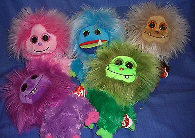 W-F-L TY Frizzy Selection Of Frizzys With Glubschi Eyes 15 CM Aliens