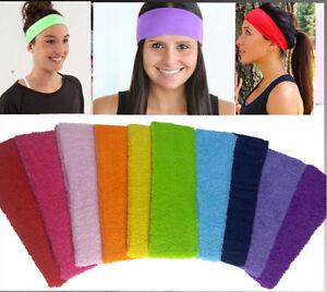Sports Yoga Headband Gym Stretch Cotton Head Hair Band Armband Girls ... edf4250adf1