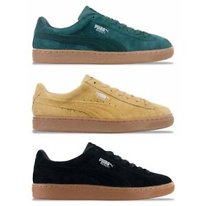 half off ea923 d2630 Details about NEW PUMA BASKET CLASSIC WEATHERPROOF TRAINERS - TAFFY, GREEN,  BLACK NUBUCK