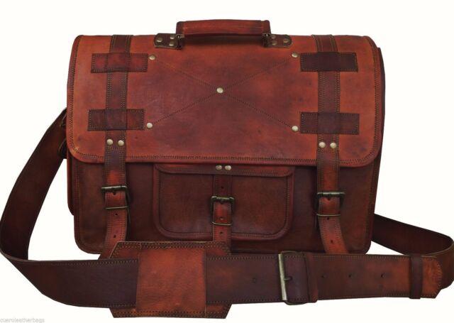 18 Briefcases Vintage Handmade Leather Messenger Bag For Laptop Best School