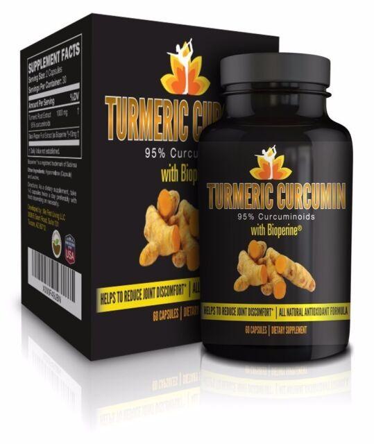 Me First Living Standardized Turmeric 95% Curcuminoids 1000mg With Bioperine
