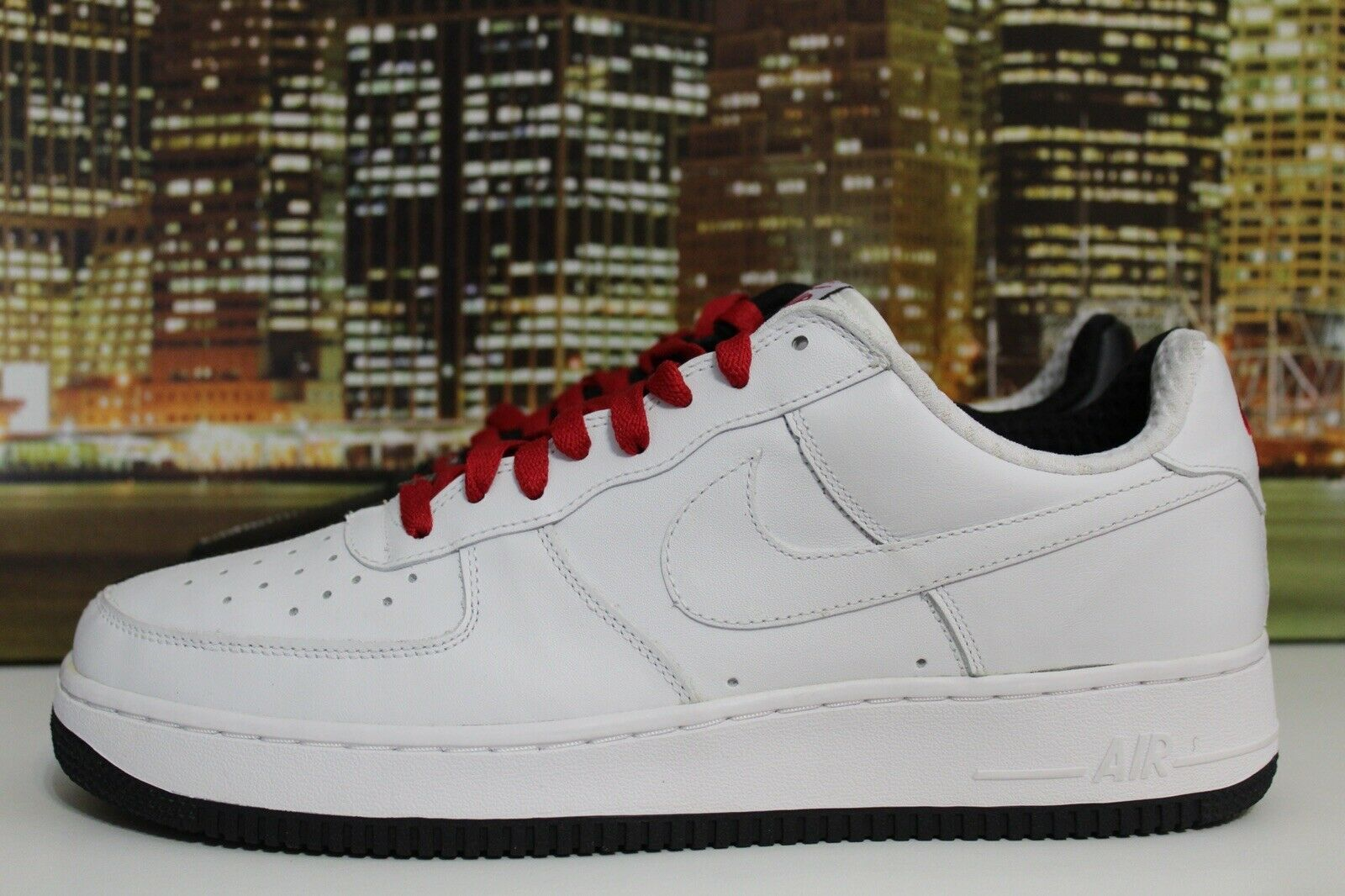 Nike Air Force 1 Premium Scarface White Black Varsity Red 2005 Sneakers Size 11