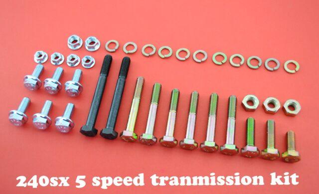 10 KIT 240SX KA24DE S13,S14 TRANSMISSION BELL HOUSING  BOLTS 5 SPEED SWAP 240 SX