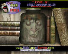 """Type O"" Vampire Head in Jar - Halloween/Horror Prop/Decor-  Fetid Green Version"