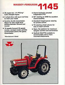 massey ferguson 1145 tractor sales brochure ebay rh ebay com Massey Ferguson 165 Diesel Tractor Massey Ferguson 165 Diesel Tractor