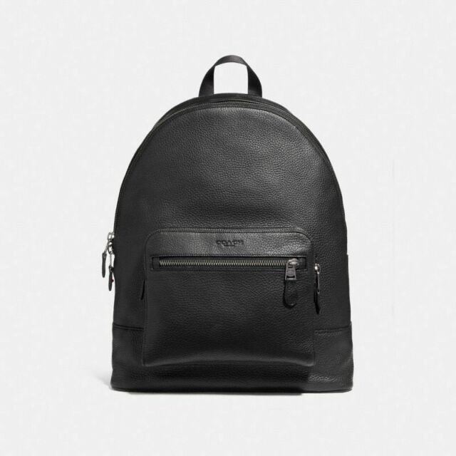 5d2bad52fdf7 ... czech coach f23247 qb bk west black backpack in pebbled leather  traveler school new 6e7d5 06be1