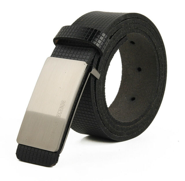 Mens Classic Premium Stylish Fashion REAL LEATHER Belt Alloy Buckle PD002