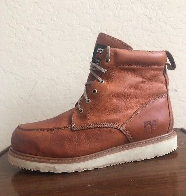 Timberland Pro Series Steel Toe Flat White Sole Work Boots