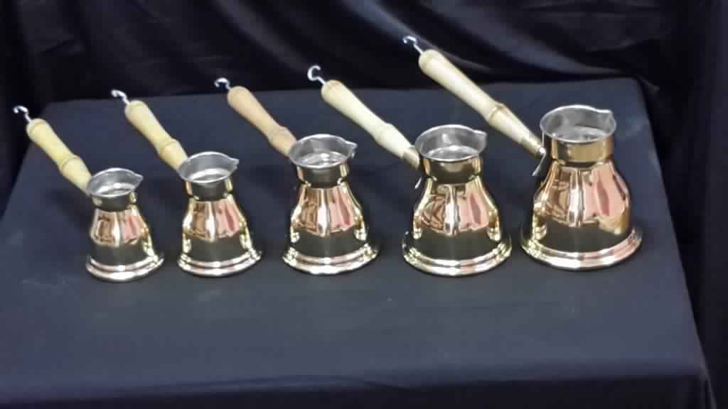 Wholesale 30 laiton café turc faire du café pot ibrik Egypte threadcount 2