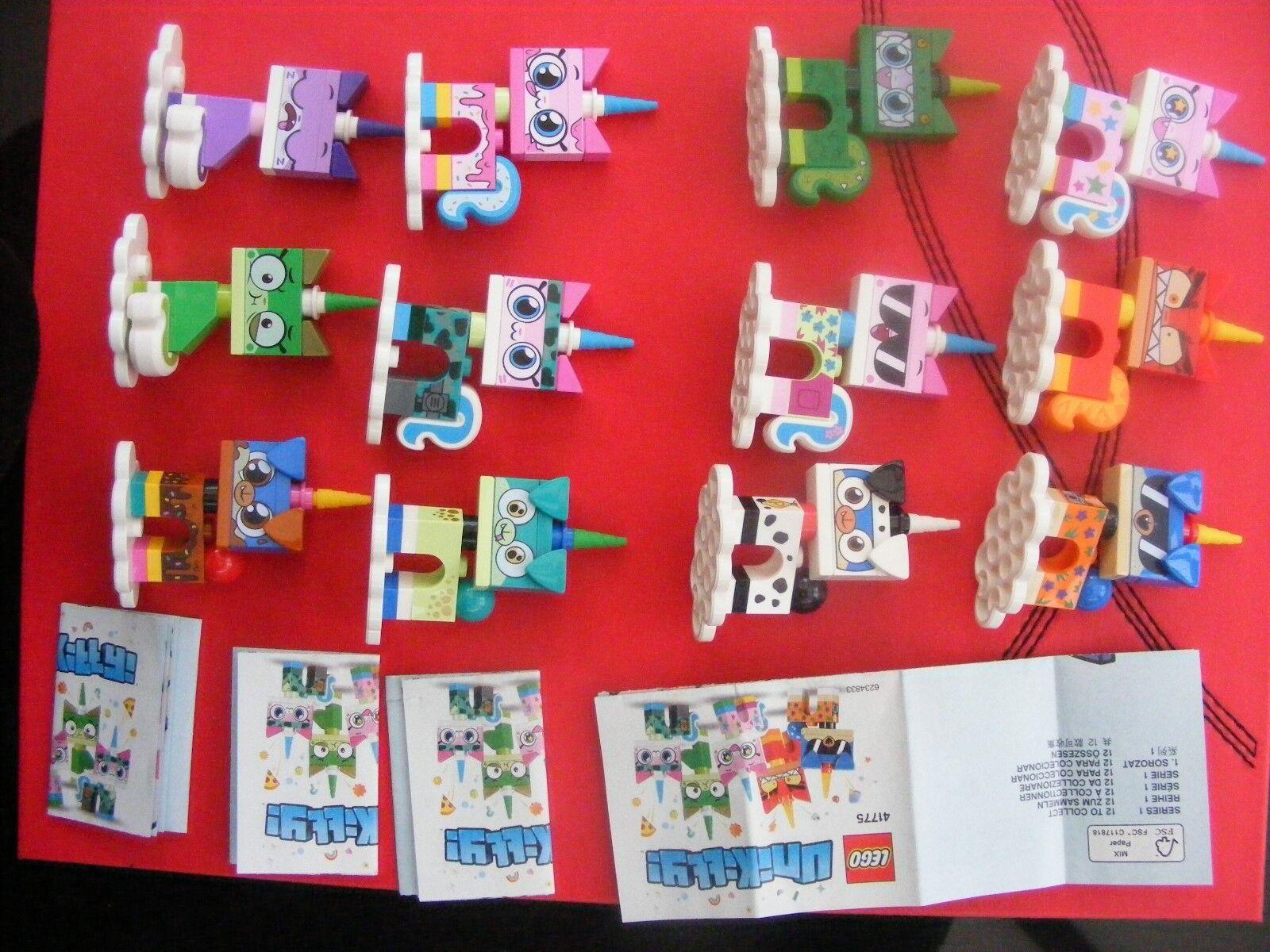 Lego Unikitty Series 1 (Complete Set Of 12) Mini figures Minifigures REF266