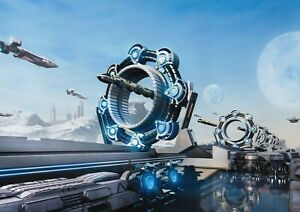 A1-Futuristic-Spacecraft-Fantasy-Poster-Art-Print-60-x-90cm-180gsm-Gift-14101