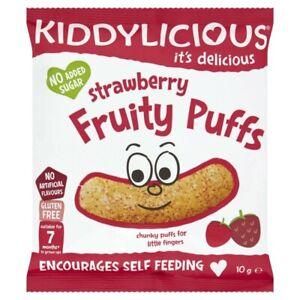Kiddylicious Strawberry Fruity Puffs 10 gram