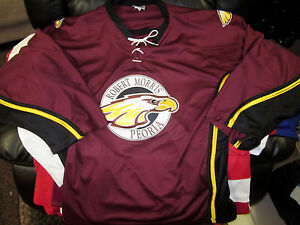 super cute d4099 dffb4 Details about Robert Morris University - Peoria EAGLES HOCKEY JERSEY NCAA  NEW LARGE