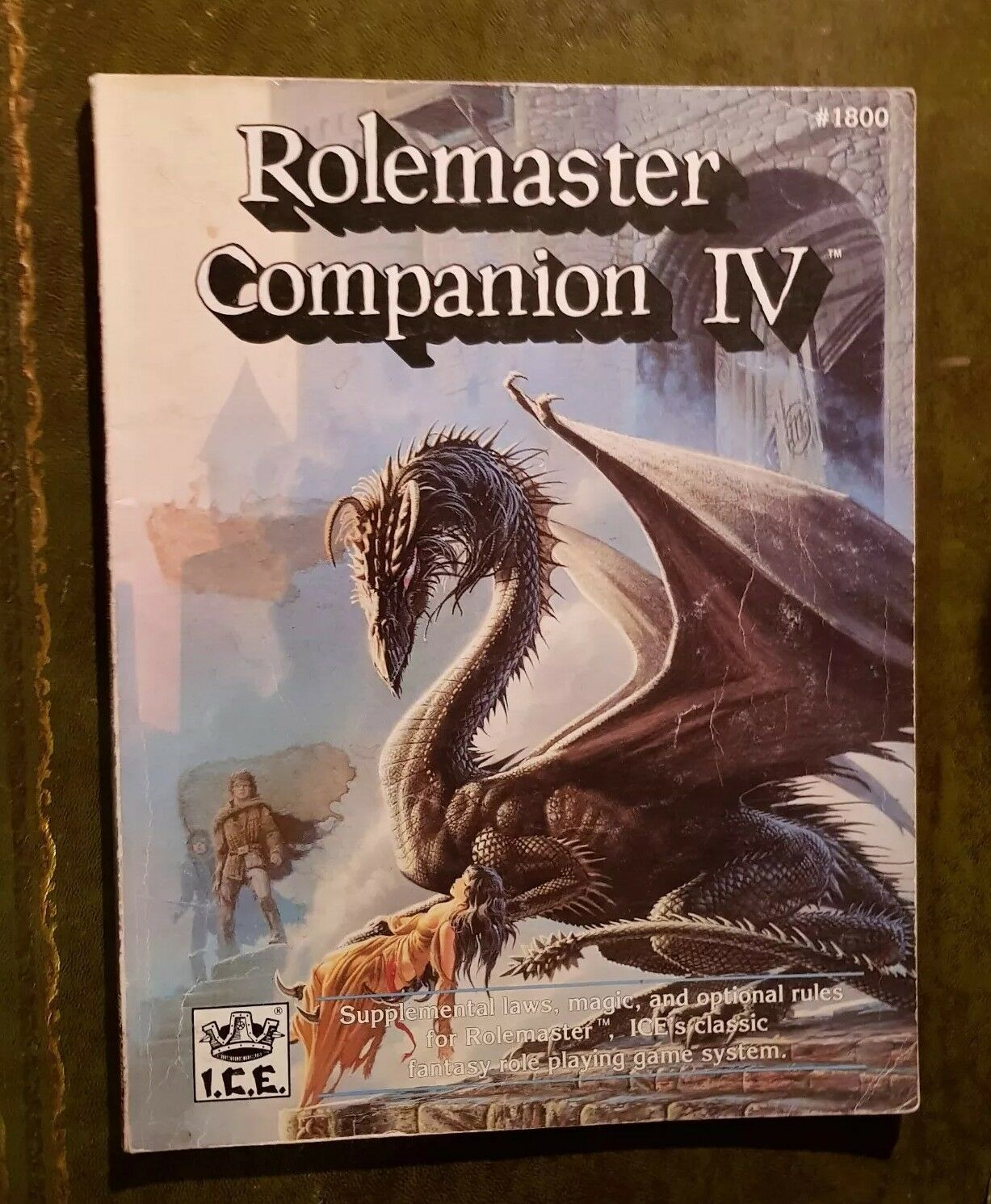 ROLEMASTER COMPANION IV 4 -  I.C.E. IRON CROWN RPG SHADOW WORLD MERP ROLEPLAYING
